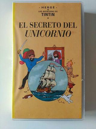 el secreto del unicornio vhs. pelicula tintin