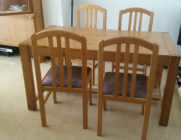 Mesa comedor, 6 sillas y dos muebles a juego de segunda mano por 160 ...