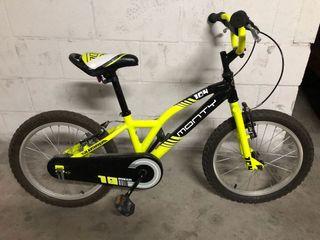 Bicicleta monty rueda de 18 pulgadas.
