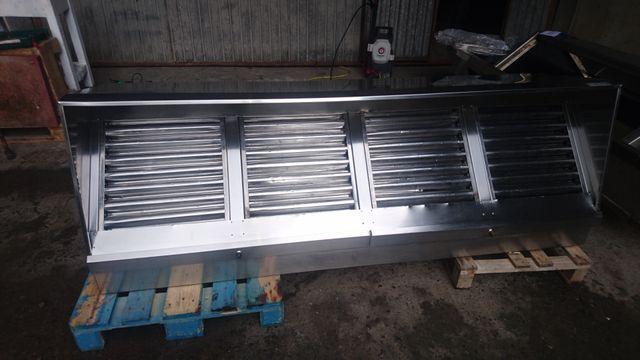 Campana extractora industrial de acero inoxidable