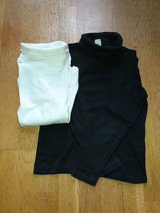 2 camisetas cuello alto. Ambas 5€