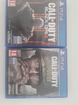 COD WWII y BO3 ps4