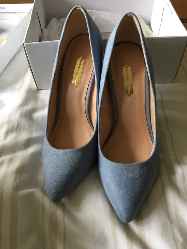 Ladies blue high heels