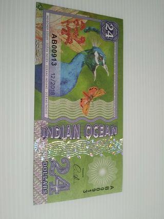 BILLETE FANTASIA INDIAN OCEAN 24$ 2018