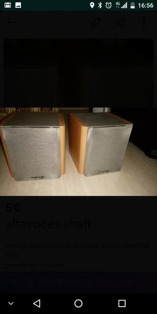 2 altavoces Shaft 24w x 5€