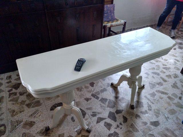 Mesa comedor tipo libro + 6 sillas de segunda mano por 75 € en ...
