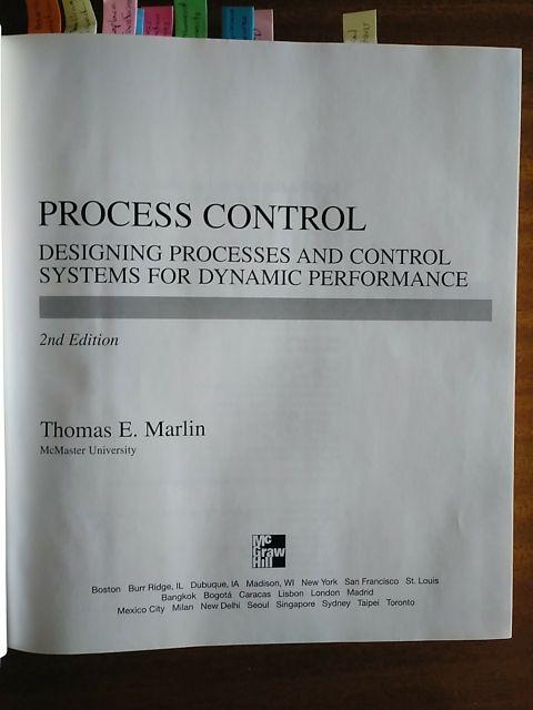 Process Control Thomas E Marlin De Segunda Mano Por 35 En Palmeira En Wallapop