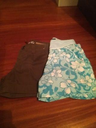 dos pantalones cortos