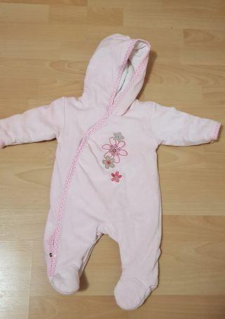 Saco abrigo rosa para bebe 6 meses