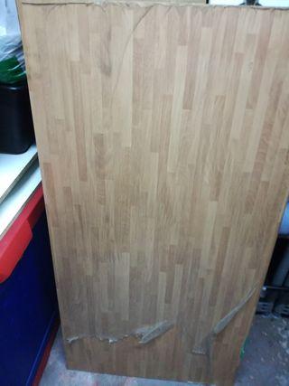 encimera de madera color roble