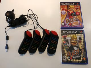 Videojuegos Buzz! Play Station 2 (PS2) + mandos