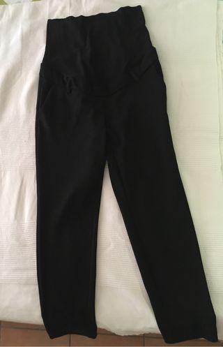 Pantalon pitillo negro premama H&M