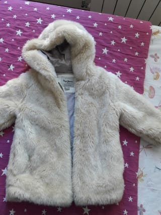 abrigo de peluche niña Pepe Jeans