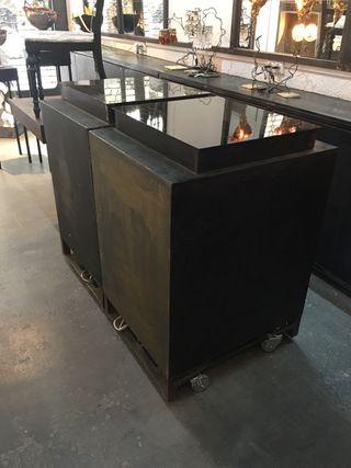 Muebles de cocina con nevera integrada