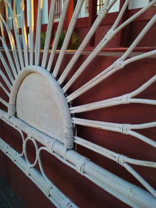 Cabecero vintage caña bambú.