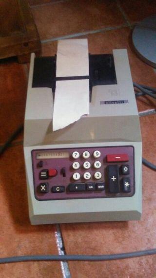 Maquina calculadora Olivetti antigua