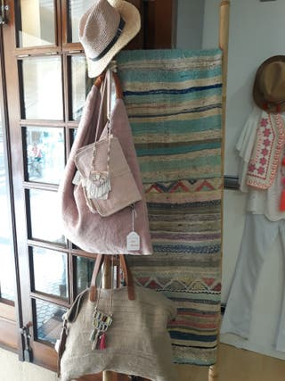 alfombra kilim vintage con etiqueta a estrenar