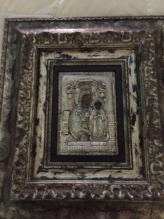 Cuadro imagen de virgen con el niño