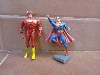 Lote figuras Superman y Flash