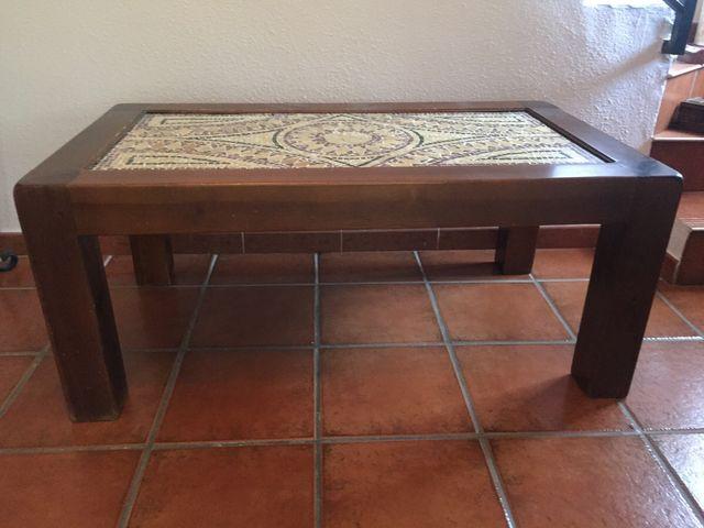 Mesa de centro con mosaico de piedra original de segunda mano por 480 en granada en wallapop - Mesas mosaico segunda mano ...