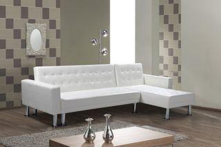 Chaise-longue cama ángulo reversible