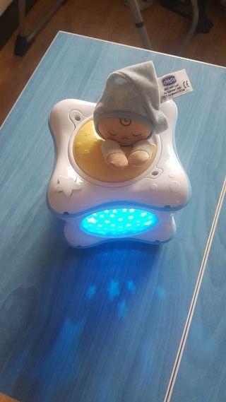 caja proyector y botes bebe