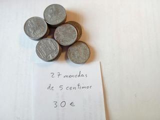 monedas 5 centimos Franco