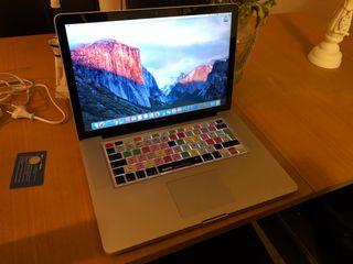"""MacBook Pro 15"""" i7 a 2,4GHz 8GB DDR3 240GB SSD"""