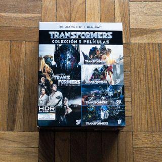 Pack Películas Transformers 1-5 4k BluRay {Nuevo}
