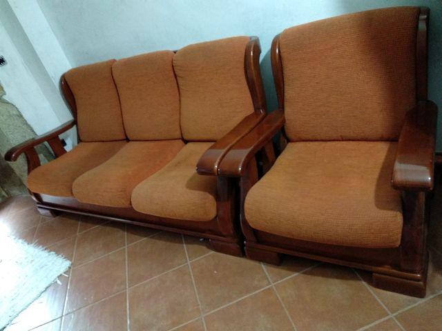 Sofas De Madera De Segunda Mano Por 300 En Vigo En Wallapop - Sofas-de-madera