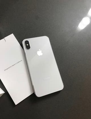 Móvil IPhone X Plata 64Gb Impoluto Como Nuevo