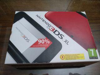 caja con instrucciones NINTENDO 3DS XL