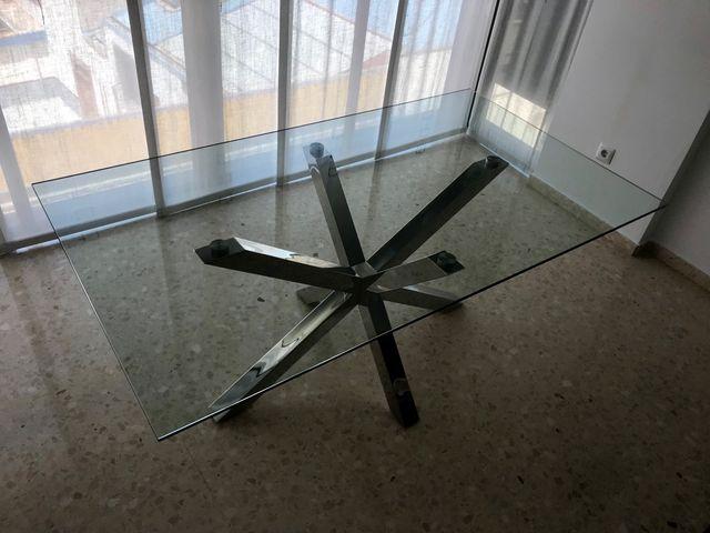 Mesa cristal salón comedor de segunda mano por 389 € en Castellón de ...