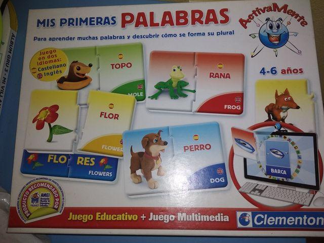 Juegos Primeras Palabras Espanol E Ingles Juegos D De Segunda Mano