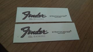 Fender Stratocaster made in Japan decal calco