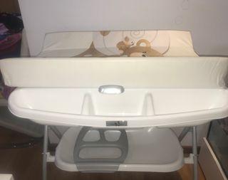 Bañera con cambiador neonato valencia