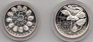 Estuche monedas 2002 San Marino 5 y 10 Euros