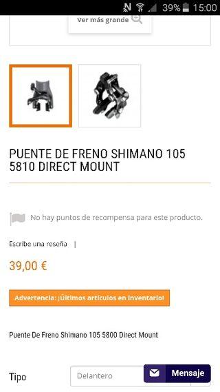 frenos shimano 105 direct mount