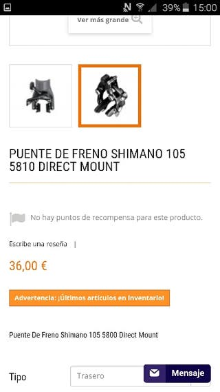 frenos shimano 105 direct mount