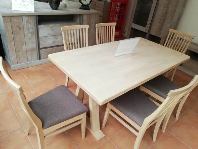 Mesa comedor seis sillas de segunda mano por 485 € en Cuarte de ...
