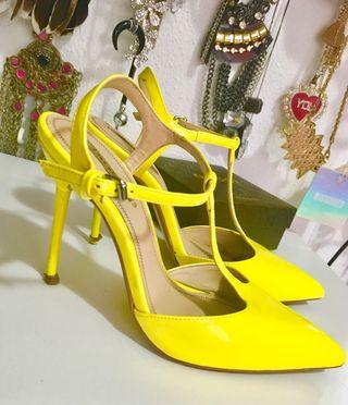 Xquwxa Wallapop De Zapatos Amarillos Segunda Tacón Mano En 061wqz1