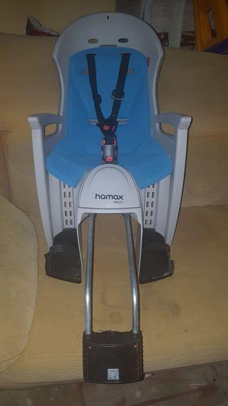 silla de paseo niñ@ marca hamax para bicicletas