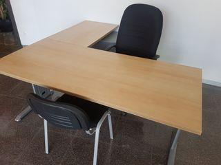 2 mesas 4 sillas Oficina