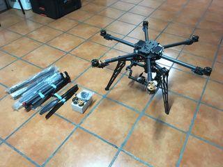 Hexacoptero profesional gimbal DSLR