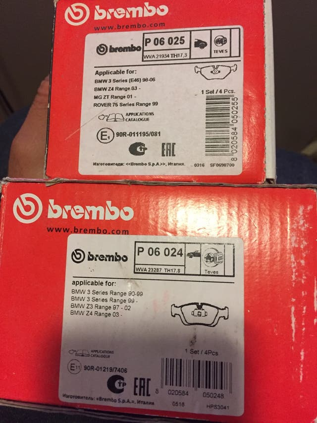 pastillas brembo bmw e46