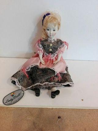 muñeca de porcelana lady doll