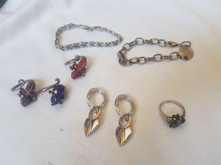 Plata de Ley, varios precios, anillo, pendiente