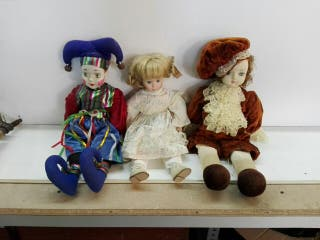 muñecas antiguas de porcelana y trapo