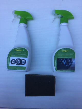 Limpiador de llantas + brillo ruedas