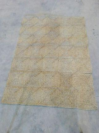 alfombra artesanal mimbre cáñamo